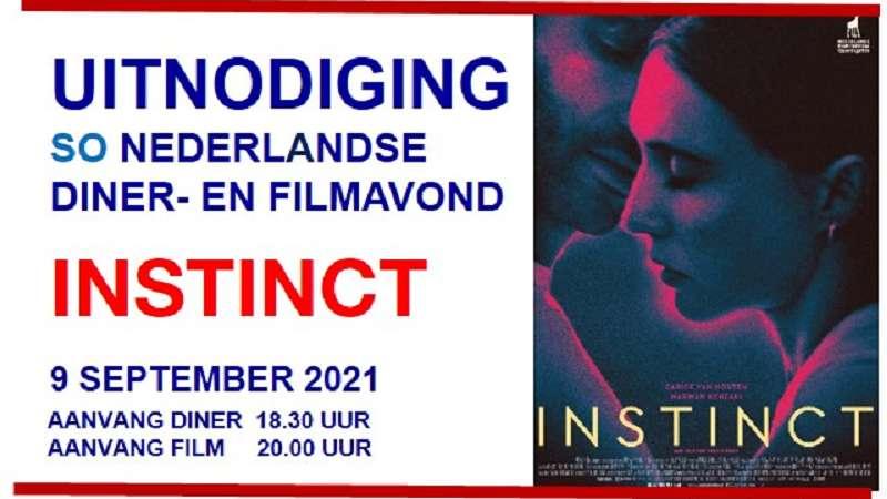 "UITNODIGING Nederlandse Diner- en Filmavond ""INSTINCT"" (besloten)"