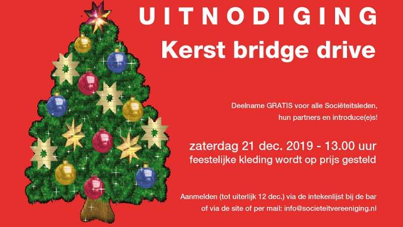 Uitnodiging Kerst bridge drive